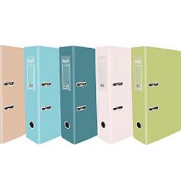 Pasta arquivo A4 L80 - cores Pastel- pack 10uni
