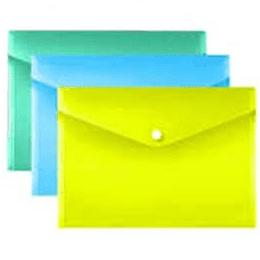 Bolsa arquivo tipo envelope A4 fecho botão- pack 3uni