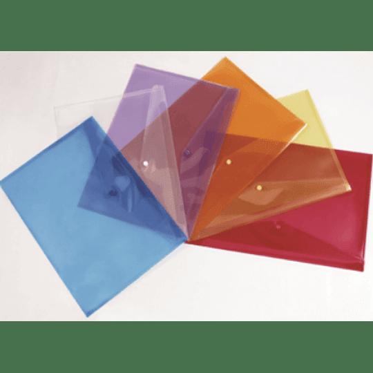 Bolsa arquivo tipo envelope A5 fecho botão - pack 5uni