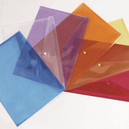 Bolsa arquivo tipo envelope A6 fecho botão - pack 5uni