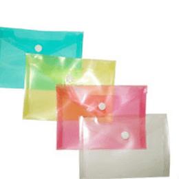 Bolsa arquivo tipo envelope A7 fecho botão-pack 12uni