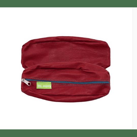 Bolsa porta-lápis em pele c/fecho