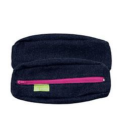 Bolsa porta-lápis em ganga c/fecho