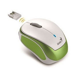 Mini Rato Sem Fios Genius Traveler 9000R V2 Verde/Branco