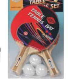 Set Raquetes Tenis mesa+3 bolas ping-pong
