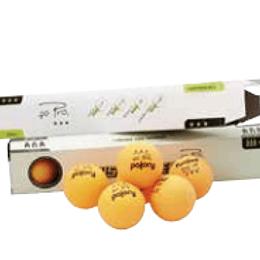 Emb. c/6 bolas ping-pong branca/laranja