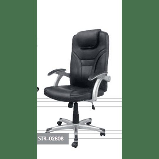 Cadeira STR-0260B executiva Preta