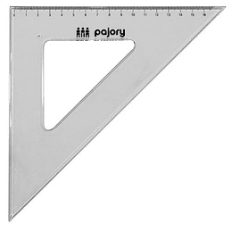 Esquadro 45º/21cm e-14cm plast cristal