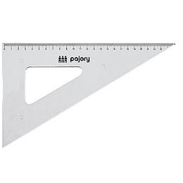 Esquadro 60º/26cm e-26cm plast cristal