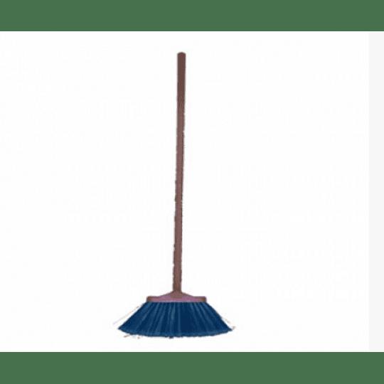 Vassoura caravela flor c/cabo madeira