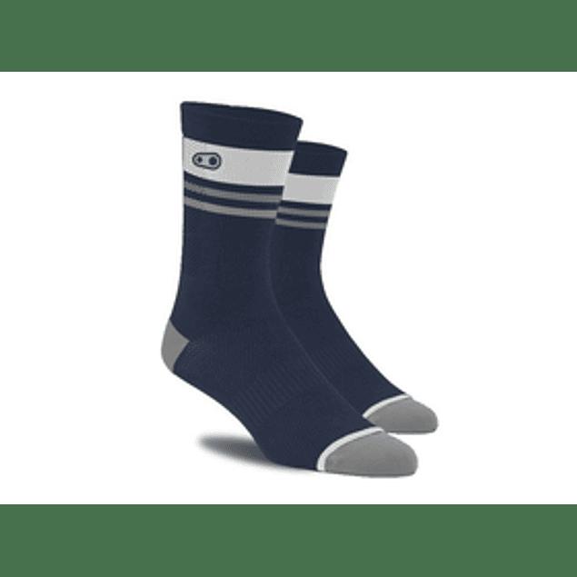 Crankbrothers Icon mtb sock Azul Blanco