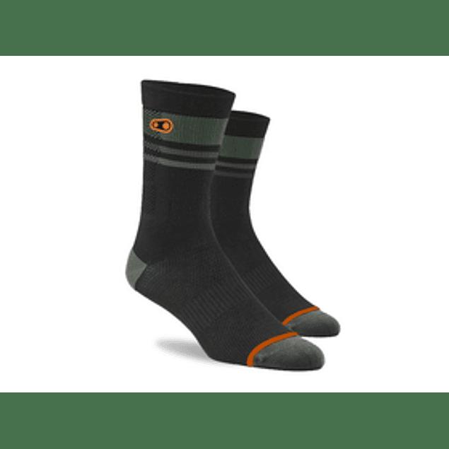 Crankbrothers Icon mtb sock Negro Verde
