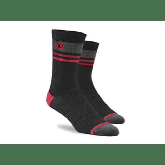 Crankbrothers Icon mtb sock Negro Rojo