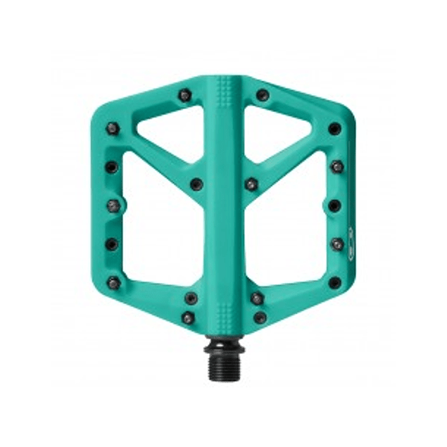PEDALES CRANKBROTHERS STAMP 1 LARGE TURQUOISE