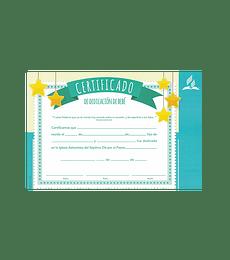 Certificado de Dedicacion de niños (azul)