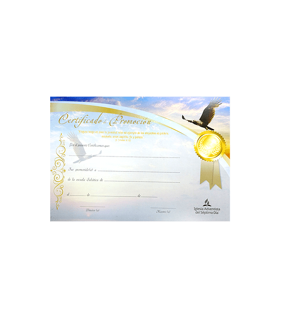 Certificado de Promoción - Juvenil