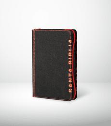 Biblia NTV tamaño compacto i/piel negro/rojo