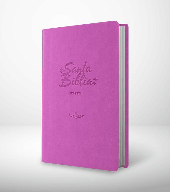 Biblia RVR 95 LG - Damas - Rosa
