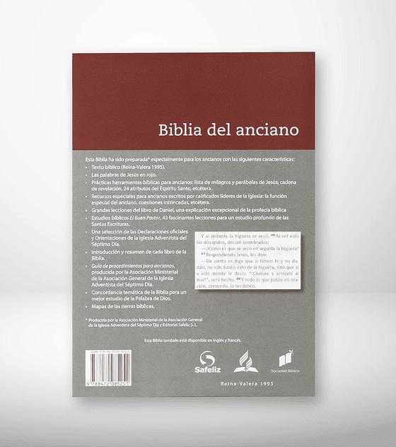 Biblia del anciano gris/rosa