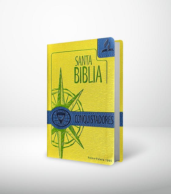 Biblia Conquistadores - Verde y azul
