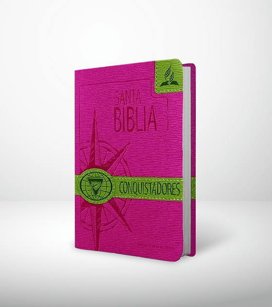 Biblia Conquistadores rosa y verde