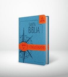 Biblia Conquistadores - turquesa y naranja