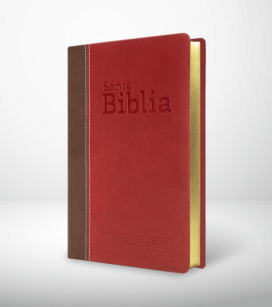 Biblia RVR 95 LG - Granate y chocolate