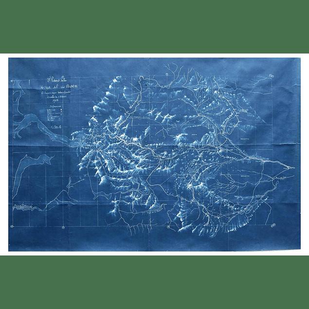 Coyhaique-Valle Simpson 1903: Mapa Comisión de Límites