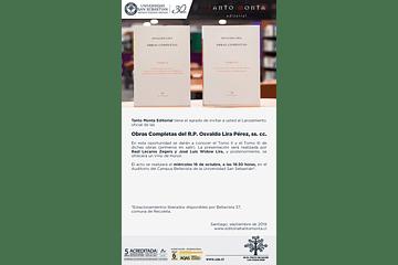 Lanzamiento Obras Completas y Editorial Tanto Monta [27.09.2019]