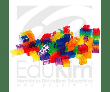 Construcción de bloques translúcidos 90 Pzas.