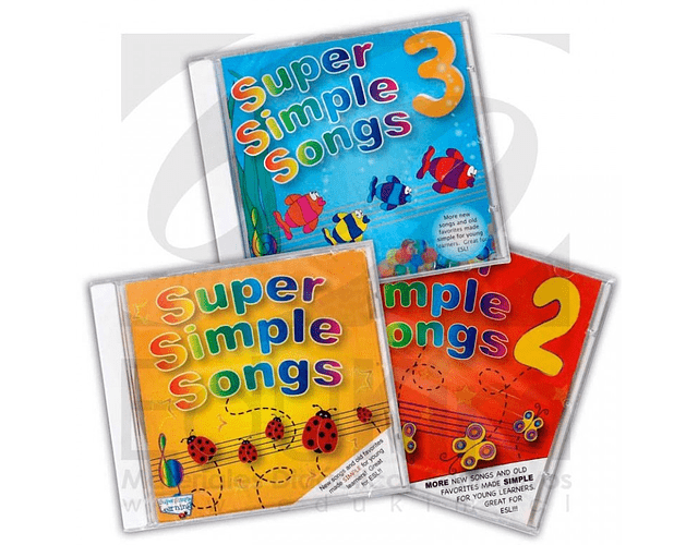 Set de 3 CD Super Simple Song Vol 1,2,3
