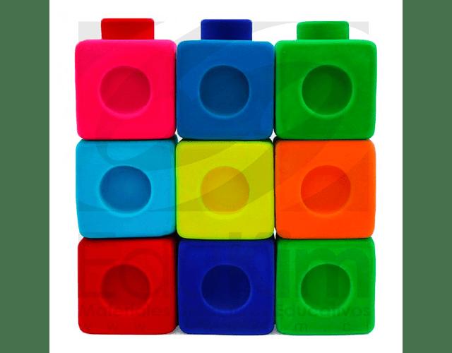 Set de 9 cubos conectores grandes