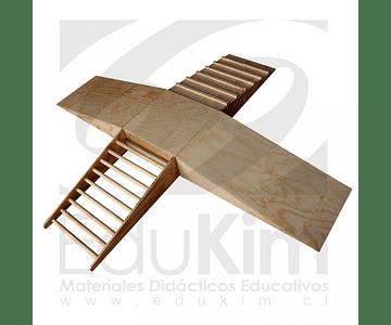 Pikler conjunto rampa de gateo trepador