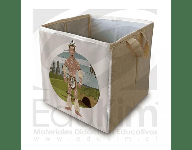 Caja plegable diseño Rapa Nui Hombre 30 cm