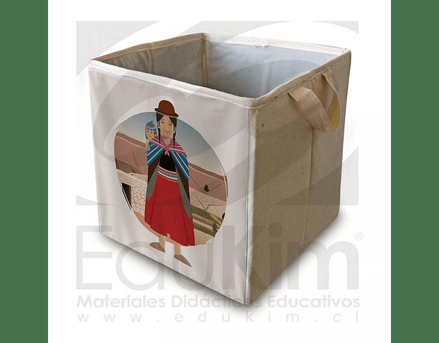 Caja plegable diseño Aymara Mujer 30 cm