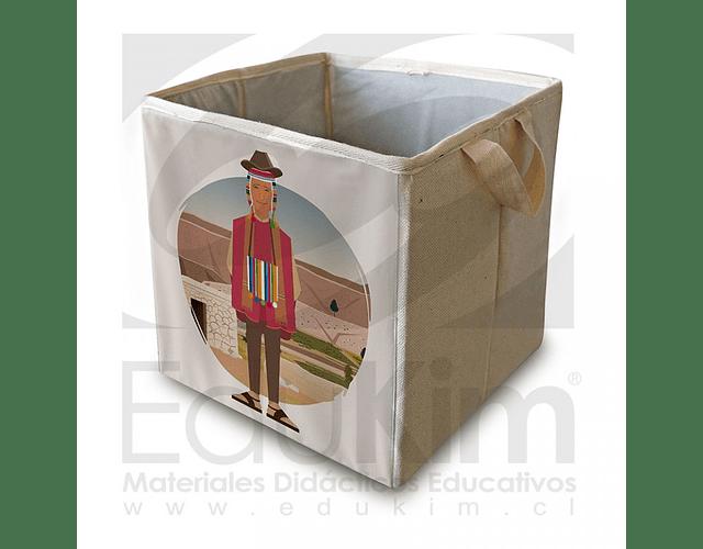 Caja plegable diseño Aymara Hombre 30 cm