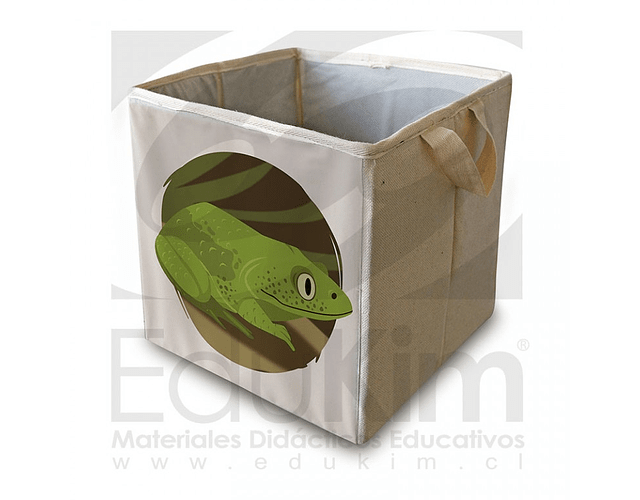 Caja plegable diseño sapo 26 cm