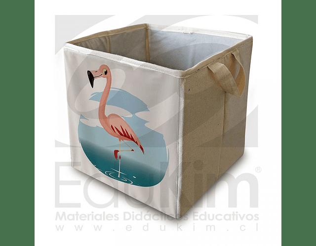 Caja plegable diseño flamenco 26 cm