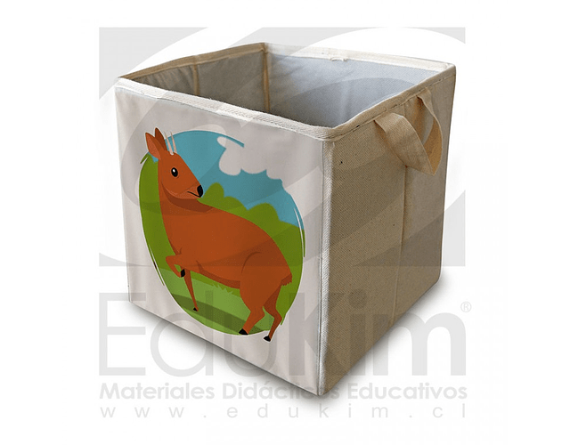 Caja plegable diseño pudú 26 cm