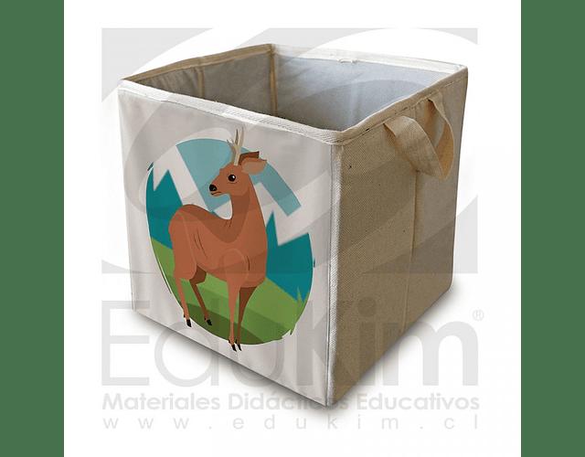Caja plegable diseño huemul 26 cm