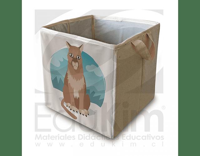 Caja plegable diseño puma 26 cm