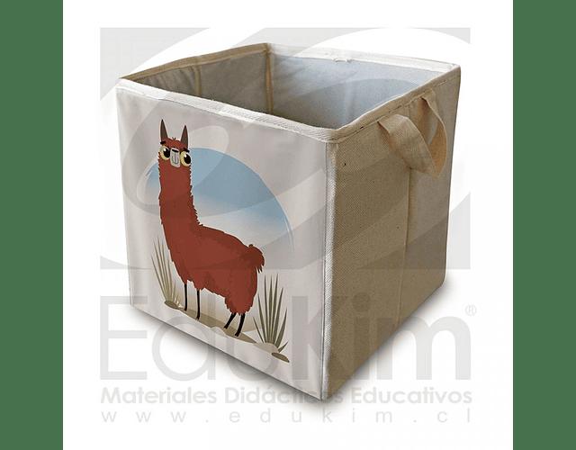 Caja plegable diseño llama 26 cm