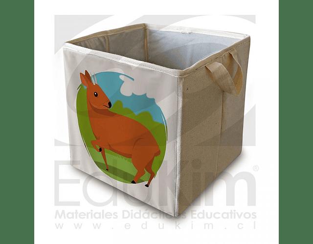 Caja plegable diseño pudú 30 cm