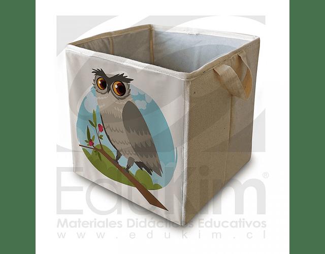Caja plegable diseño buho 30 cm