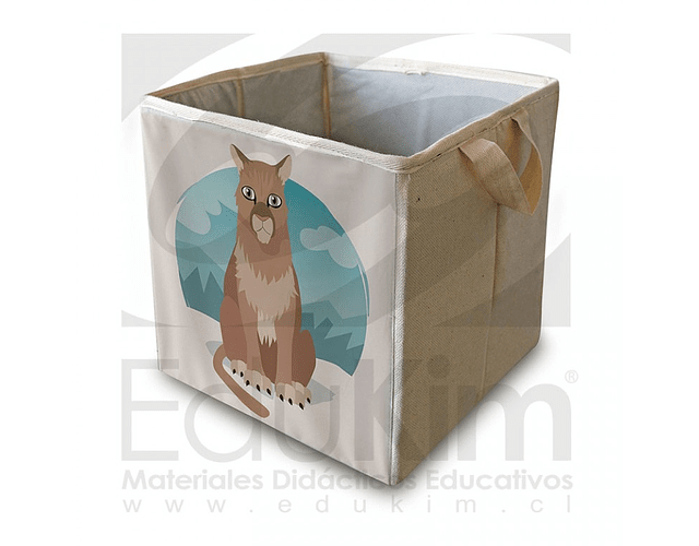 Caja plegable diseño puma 30 cm