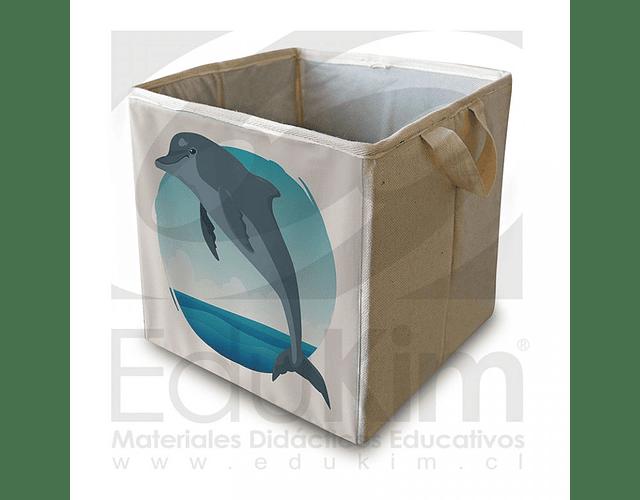 Caja plegable diseño delfín 30 cm