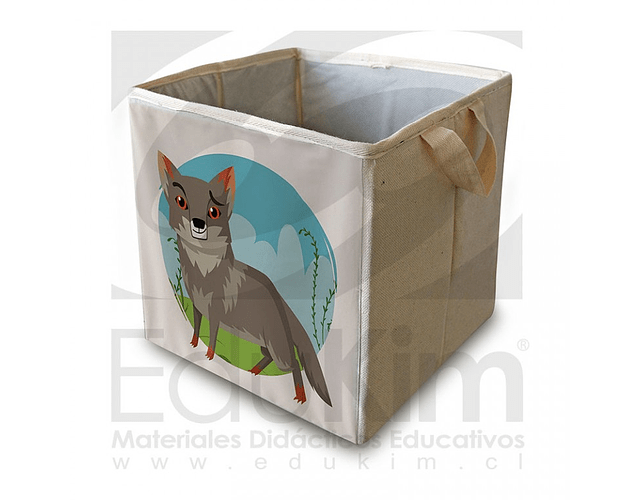 Caja plegable diseño Zorro Chilote 30 cm