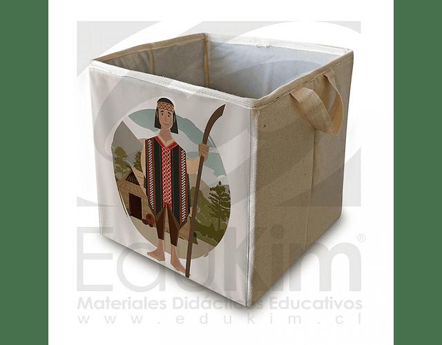 Caja plegable diseño Mapuche Hombre 30 cm