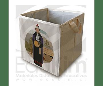 Caja plegable diseño Mapuche Mujer 30 cm