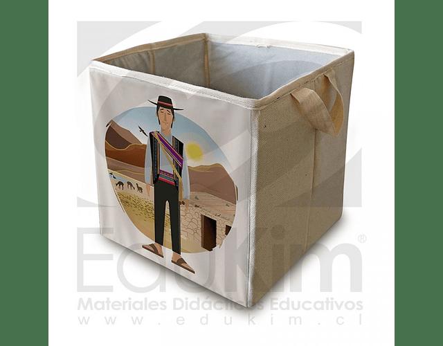 Caja plegable diseño Atacameño Hombre 30 cm